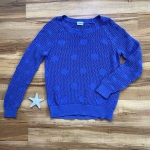 Madewell Wallace Polka Dot Open Knit Sweater
